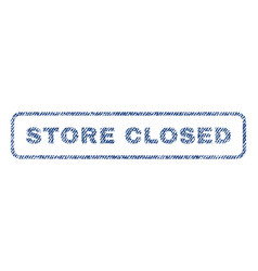Store closed textile stamp vector