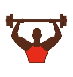 Strong man african bodybuilder icon vector