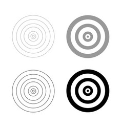 Target the black and grey color set icon vector