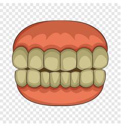 Teeth icon cartoon style vector