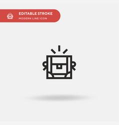 treasure simple icon symbol vector image