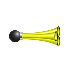 Triple air horn in yellow design vector