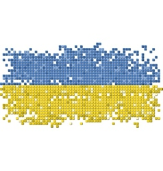 Ukrainian grunge tile flag vector