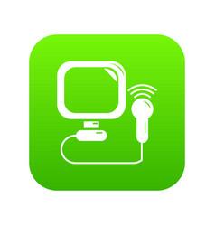 Ultrasound icon green vector