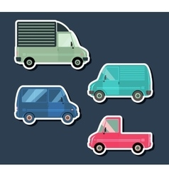 Urban traffic vehicles vector image