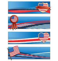 usa banners vector image
