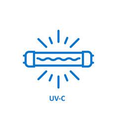 uv light sterilization icon uv-c quartz light vector image