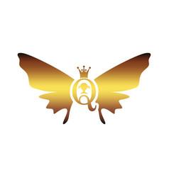 vintage queen silhouette medieval queen profile vector image
