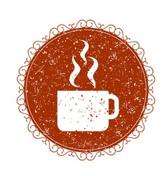 Vintage sign with coffee cup vector