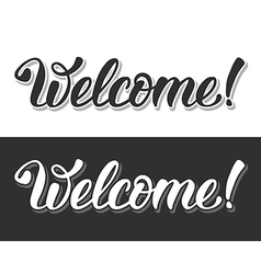 Welcome sign vector