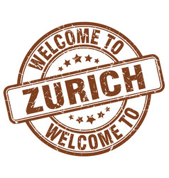 Welcome to zurich vector