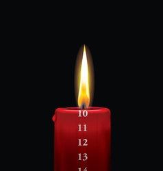 Advent candle red 10 vector image vector image