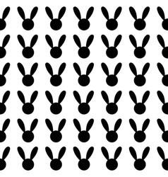Black Rabbit White Background vector image