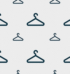 clothes hanger icon sign Seamless pattern with vector image