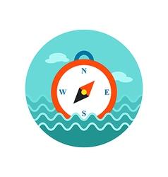 Compass icon Summer Marine vector image vector image