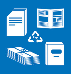 paper processing documents archives books vector image