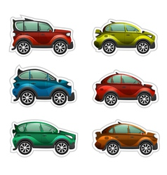 toy cars stickers vector image vector image