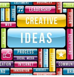 Creative ideas concept pattern vector image