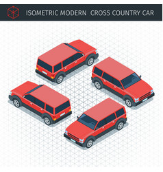 ed croos country car vector image