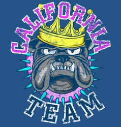 KING DOG TEAM vector image vector image