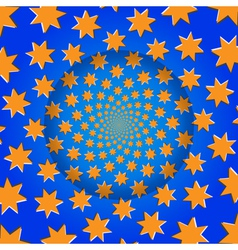Rotating stars optical pattern background vector