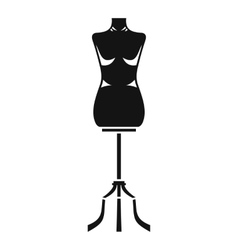 Sewing mannequin icon simple style vector image