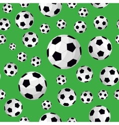 Soccer Ball Seamless Football Background Pattern vector image