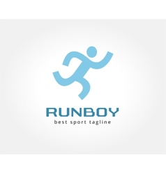 Abstract running people logo icon concept Logotype vector image vector image