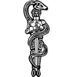 Saint George and Serpent vector image vector image