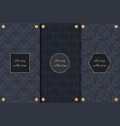 set of dark backgrounds luxury product vector image vector image