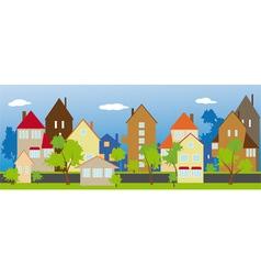 street neighbors vector image vector image