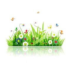 summer green meadow vector image vector image