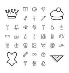 37 elegance icons vector