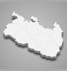 3d isometric map rangpur is a division of vector