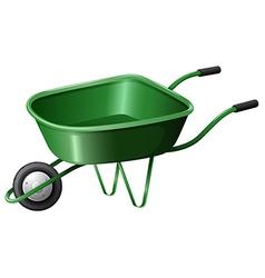 A green construction cart vector