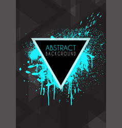 abstract design background with grunge splatter vector image