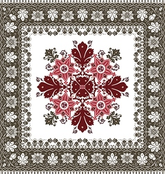 Abstract ethnic shawl floral pattern design vector