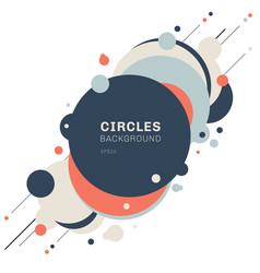 Abstract geometric blue orange circles shapes vector