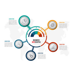 abstract infographics five options template vector image