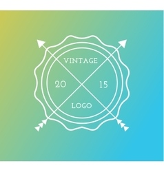 Abstract vintage logo design elements set vector