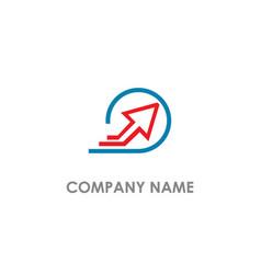 arrow up line round logo vector image