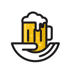 beer drink logo vector image