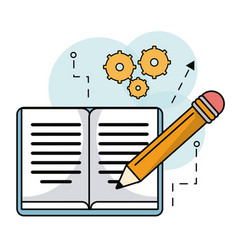 Book pencil writing learning work vector