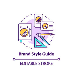 Brand style guide concept icon vector