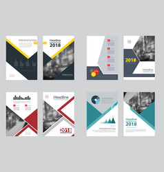 Business abstract template brochure design vector