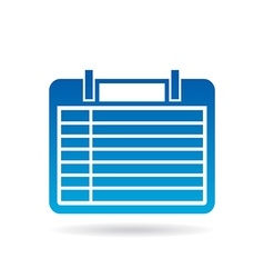 Calendar agenda 7 days of week vector