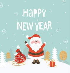 Card for new year vector