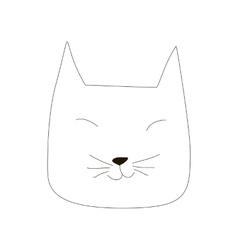 cartoon cat line art vector image