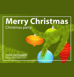 christmas party concept background isometric vector image