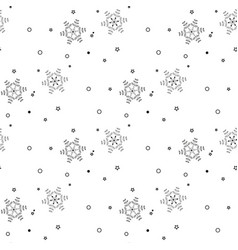 christmas seamless pattern from gray snowflakes vector image